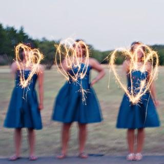 Bridesmaids & Sparklers